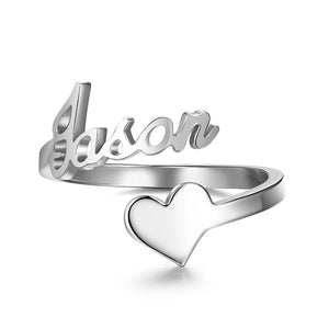 Personalized Heart Name Ring