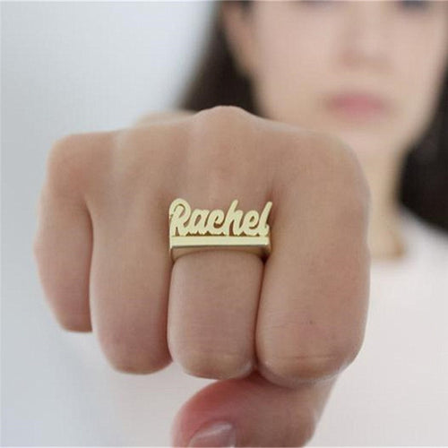 Personalized Word Monogram Ring