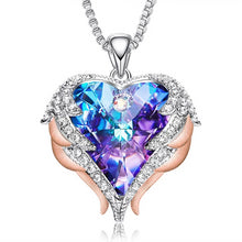 Swarovski Angel Wings Crystal Heart Necklace
