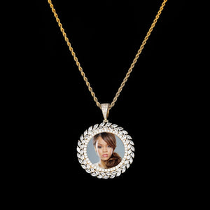 Custom Photo Round Medallion Pendant Necklace