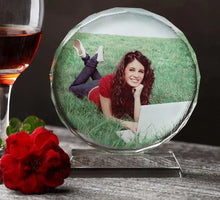 Personalised Laser Engraved Crystal Photo Frame