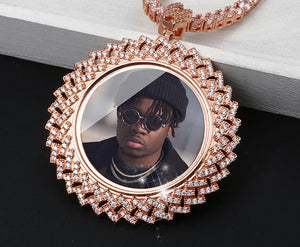 Custom Photo Memory Medallion Necklace For Men