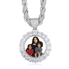 Custom Photo Medallion Necklace - With Big Rope Chain