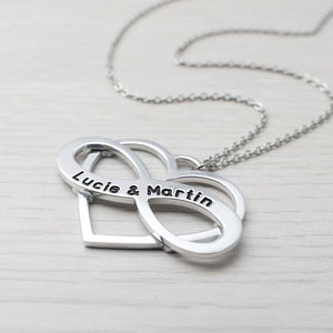 Custom Engraved Infinity Necklace