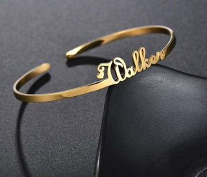Customized Name Cuff Bangle
