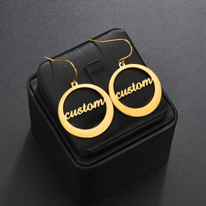 Personalized Hook Name Earrings