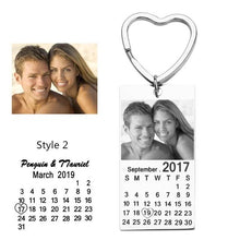 Personalized Keychain With Date, Photo, Engrave Text