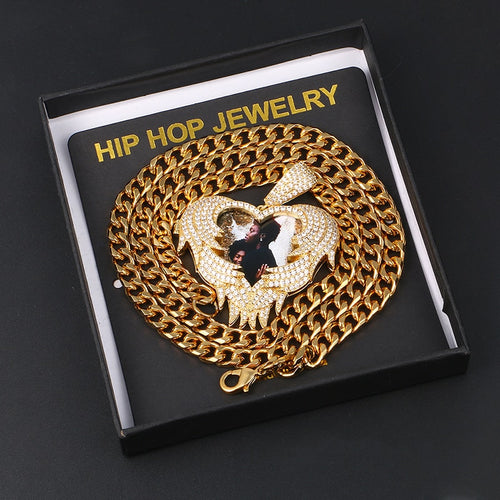 Personalized Photo Hip Hop Medallion Necklace