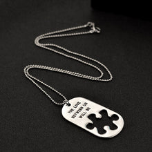 Letters Carving Pendant Necklaces
