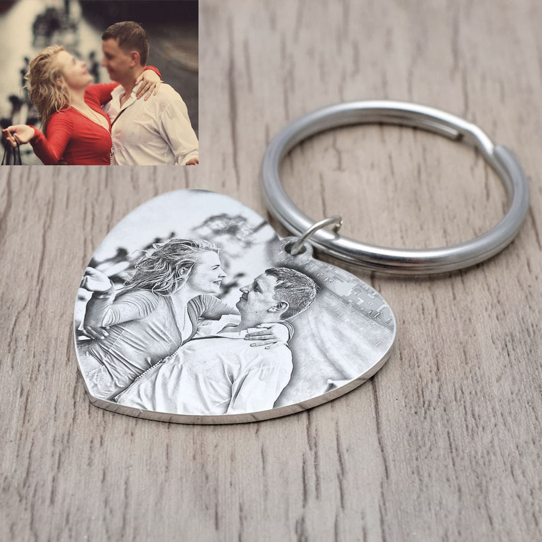 Custom Photo Calendar Keychain