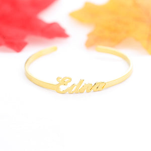 18K Gold Plated Adjustable Name Bracelets For Women