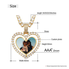 Custom Made Photo Heart Rotating Double-sided Medallions Necklace