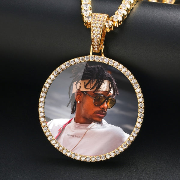 Custom Photo Medallion Necklace- Best Christmas Gifts 2021