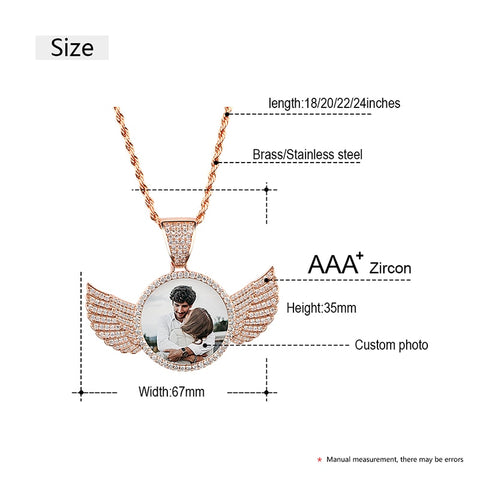 Photo Wings Medallions Necklace- Best Christmas Gifts 2021