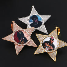 Star Necklace Medallion Pendant Custom Photo Medallion Necklace