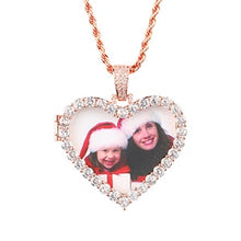 Custom Photo Medallion Heart Necklace -Custom Heart Medallion Locket