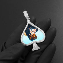 Custom Photo Medallions Necklace - Spades Shape Medallions Necklace