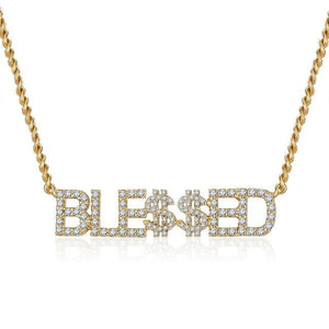 18K Gold Plated Personalized Bling Name Necklace Gift For Her
