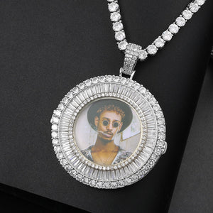 Custom Made Photo Medallions Pendant Necklace