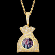 "Custom Photo ""Flexing With Money"" Hip Hop Money Bag Medallion Necklace For Man"