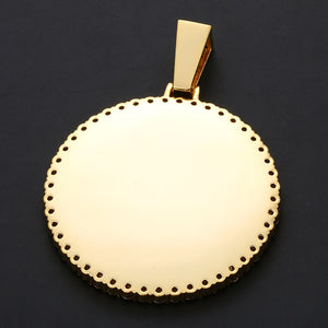 Plating Of Gold Medallion Necklace- Custom Photo Medallion Necklace Christmas Gifts 2020