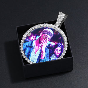 Custom Photo Medallion Necklace- Plating Of Gold Medallion Necklace Christmas Gifts For Couple