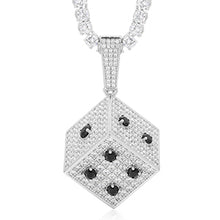 Square Dice Pendant Necklace Bling Hip Hop Jewelry