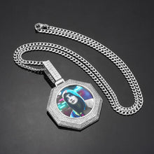 Octagon Medallions Necklace- Custom Photo Necklace Gift For Man