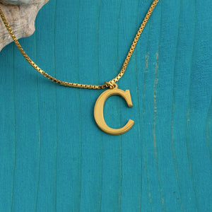 Initial letter Necklace - Gold color A to Z necklace