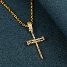 Iced Out Cross Punk Nail Pendant Necklace For Women