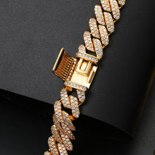 Bling AAA+ CZ Miami Iced Out Cuban Link Chain Bracelet- Crystal Rhinestone Hip Hop Bracelet