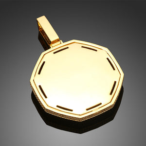 Brand New Octagon Pendant Photo Medallion Necklace For Men And Women