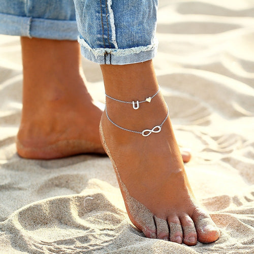 Perfect Initial Infinity Anklet Bracelet