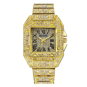 Waterproof Rhinestone Iced Out Bling Watch- CZ Diamond Rhinestone Watch