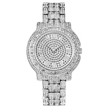 18K Gold Plated Hip Hop Bling Iced Out Women's Watch- Waterproof Rhinestone Iced Out Watch