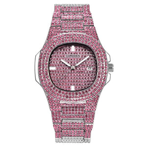 Luxury Colorful Rhinestone Iced Out Watch- Hip Hop Wrist Watch