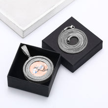 Brand New Photo Rotating Personalized Photo Medallion Necklace
