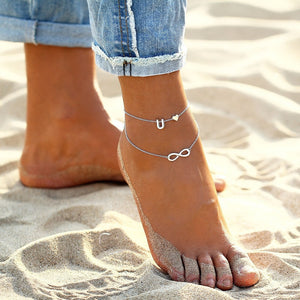 Initial Infinity Anklet Bracelet Christmas Gifts For Her 2020