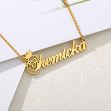 18k Gold Plated Custom Name Necklace With Crown-Christmas Gifts For Mom