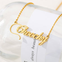 18k Gold Plated Custom Name Necklace With Crown- Christmas gifts 2020