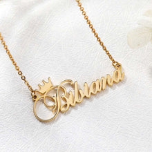 18k Gold Plated Custom Name Necklace With Crown-Christmas Gifts For Girlfriend