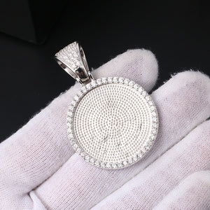Fade Resistant 925 Sterling Silver Personalized Photo Medallion Necklace For Men and Women
