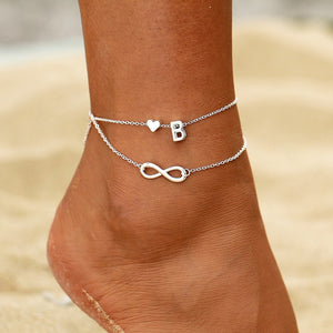 Initial Infinity Anklet Bracelet Best Christmas Gifts For Mom