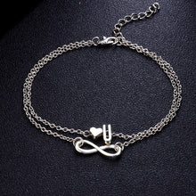 Initial Infinity Anklet Bracelet Best Christmas Gifts For Women