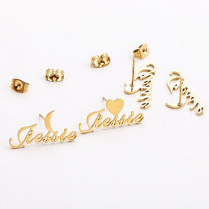 Custom Name Plate Earring- Personalized Name Earring For Women