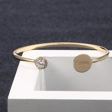 Personalized Disc Bangle Bracelet For Women