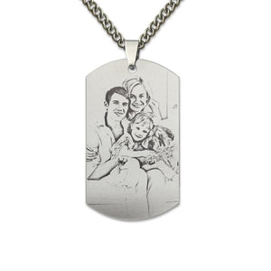Personalized Photo Necklace- Dog Tag
