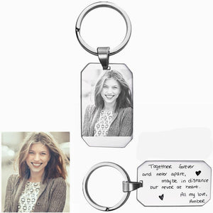 Custom Photo Keychains, Engraving On The Back