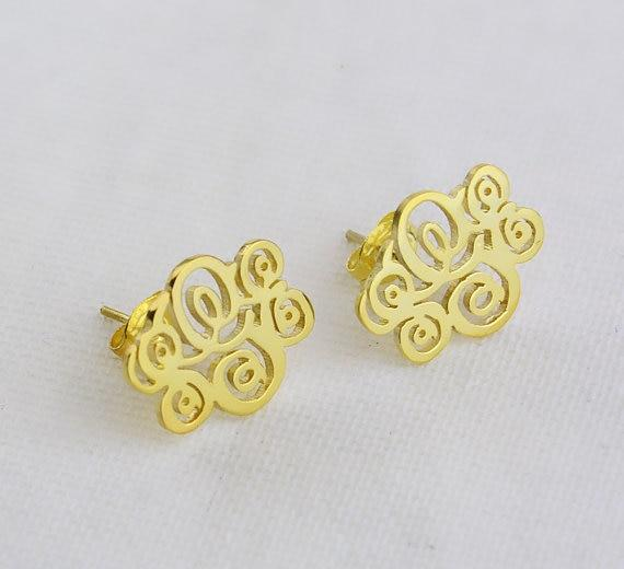 Personalized Monogram Earrings For Women