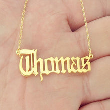 Custom Name Necklace- Old English Font